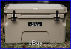 New COLD BASTARD PRO SERIES ICE CHEST BOX COOLER YETI QUALITY Free s&h 50L TAN