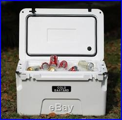 New COLD BASTARD PRO SERIES ICE CHEST BOX COOLER YETI QUALITY Free s&h 50L WHITE