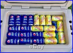 New COLD BASTARD PRO SERIES ICE CHEST BOX COOLER YETI QUALITY Free s&h 50L WHITE