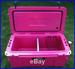 New COLD BASTARD PRO SERIES ICE CHEST BOX COOLER YETI QUALITY Free s&h 75L PINK