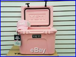 New In Box Pink Yeti Roadie 20 Qt Cooler Limited Edition Color WithFree Yeti Hat