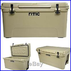 New RTIC Brand 65 Cooler Color Mojave Tan Free Shipping YETI Bottle Great Gift
