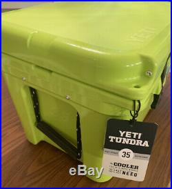 New Rare Yeti 35 Tundra Cooler Chartreuse Color Out Of Production