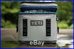 New! YETI Flip 12 Leakproof Cooler Gray & Blue 100% Authentic! AUCTION