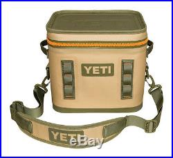 New! YETI Flip 12 Leakproof Cooler Tan / Orange 100% Authentic FREE Shipping