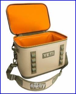 New YETI Hopper Flip 18 Portable Cooler 5 Day Ice Soft Cooler Field Tan Blaze