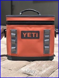 New! YETI Hopper Flip 8 Coral Soft Cooler with Shoulder Strap