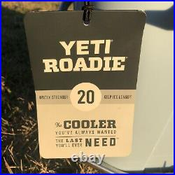 New! YETI Roadie 20 Cooler Ice Blue RARE DISCONTINUED COLOR AND STYLE