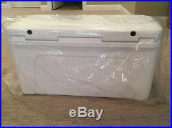 New YETI Tundra 110 Cooler White For Boating Fishing Hunting With Dry Goods Basket