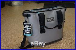 New Yeti Hopper 30 Rugged Soft Sided Leakproof Cooler Fog Gray/Tahoe Blue