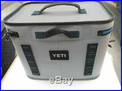 New Yeti Hopper Flip 18 Soft Cooler Fog Gray/Tahoe Blue withbox