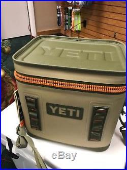 New! Yeti Hopper Flip 8 Leakproof Cooler Field Tan / Orange