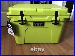 New Yeti Tundra 35 Chartreuse Cooler RARE