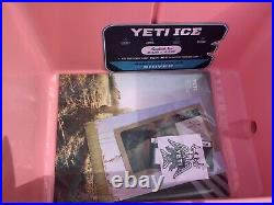 New Yeti Tundra 35 Cooler rare Limited Edition pink color with hat inside