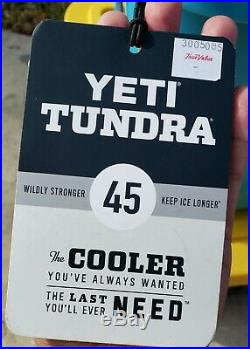 New Yeti Tundra 45 Cooler Ice Chest Blue Reef Color Outdoorsman Fisherman