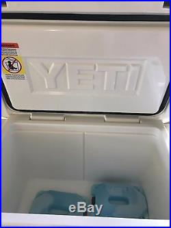 New Yeti Tundra 45 qt Cooler White WITH 2 YETI ICE PACK COOLERS