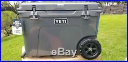 New Yeti Tundra Haul Ice Chest Cooler Charcoal Wheeled Nwt And Seadek Top