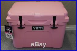 New in Box! Limited Edition Yeti Tundra 35 Pink Cooler with Pink Yeti Hat
