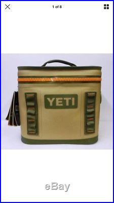 New in Box! Yeti Hopper Flip 8 Leakproof Cooler Field Tan / Orange