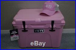 New in Box Yeti Tundra 35 Cooler Limited Edition Pink with Pink Yeti Hat