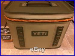 New with Tags YETI HOPPER FLIP 18 Cooler Field Tan/Blaze Orange