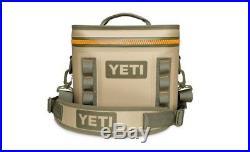 New with Tags in seald box YETI Hopper Flip 8 Cooler Field Tan/Blaze Orange