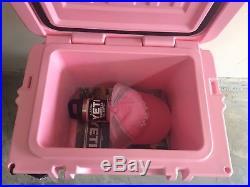PINK Yeti Roadie Cooler + PINK Yeti Hat + PINK Yeti Bottle