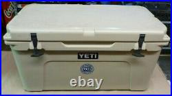 Pre-Owned Yeti Tundra 65 Hard Cooler Desert Tan With Ice Rack FREE SHIPPING