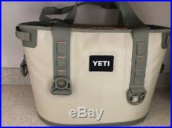 Preowned Yeti hopper 30 qt leak proof Cooler Field Tan/Blaze Orange