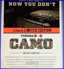 RARE 2015 Original Yeti Tundra 45 Cooler Camo EXTREMELY Limited Edition NIB
