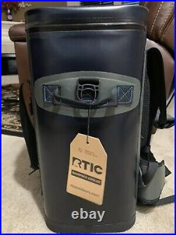 RTIC Back Pack Cooler, Blue Grey NEW Backpack 40 cans / 35 quarts. VERY NICE
