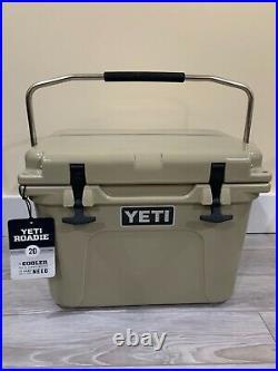 Rare YETI Roadie 20 Cooler 20qt TAN New YR20T