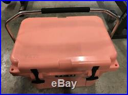 USED YETI CORAL Limited Edition Roadie 20 Cooler Discontinued Rare Limited