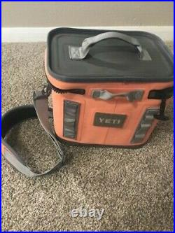 Used yeti hopper flip 12 Coral soft cooler discontinued color