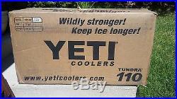 White YETI 110 Cooler