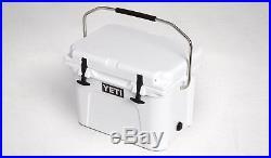 White YETI Roadie 20 Cooler Tundra Insulated Ice Chest Cooler 20 Quart w Handle