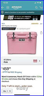 YETI 50 Tundra COOLER -Limited Edition -PINK