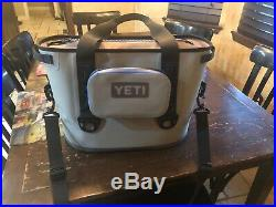 YETI Charcoal Grey HOPPER 20 Soft Sided Cooler With 1 Sidekick Bag And 1 Bottle