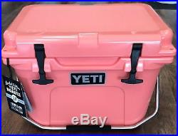 YETI Cooler Limited Edition Coral 20qt Roadie New In Box Free Shipping