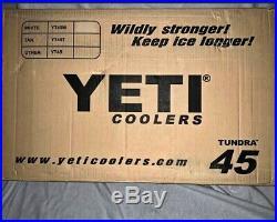 YETI Cooler Tundra 45 White in box, never opened