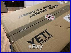 YETI Cooler Tundra 45 White in box, never opened still has the seal on the tape