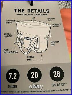 YETI Coral Hopper M30 New with Tags Insulated Bag Cooler, Discontinued! Rare