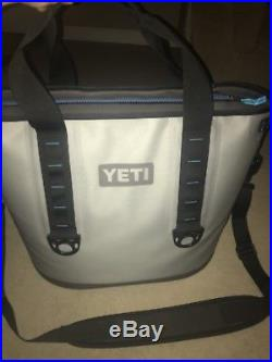YETI HOPPER 40 Soft Side Portable Ice Cooler Fog Gray Grey Tahoe Blue