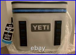 YETI HOPPER FLIP 12 SOFT COOLER BRAND NEW With TAGS IN BOX! FOG GRAY / TAHOE BLUE
