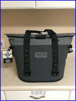 YETI HOPPER M30 Charcoal Soft Side Cooler HydroShield Magnet NWT + Free Bottl