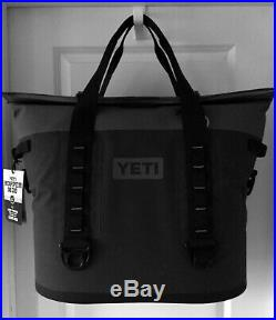 YETI HOPPER M30 Charcoal Wide-Mouth Soft Side Cooler HydroShield Magnet NEW NWT