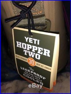 YETI HOPPER TWO 30 Cooler, Orange, Tan, Green, Free Shipping