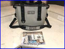 YETI Hopper 20 Cooler Bag Fog Gray / Tahoe Blue Mint Condition