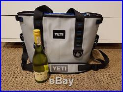 YETI Hopper 20 soft cooler bag Fog Gray Tahoe Blue