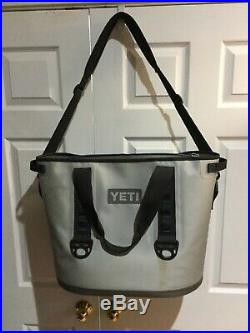 YETI Hopper 30 Portable Cooler Fog Gray Nice Condition Free Shipping